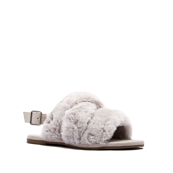 ARCHER-707XX LIGHT GREY FAUX FUR 1/4 VIEW