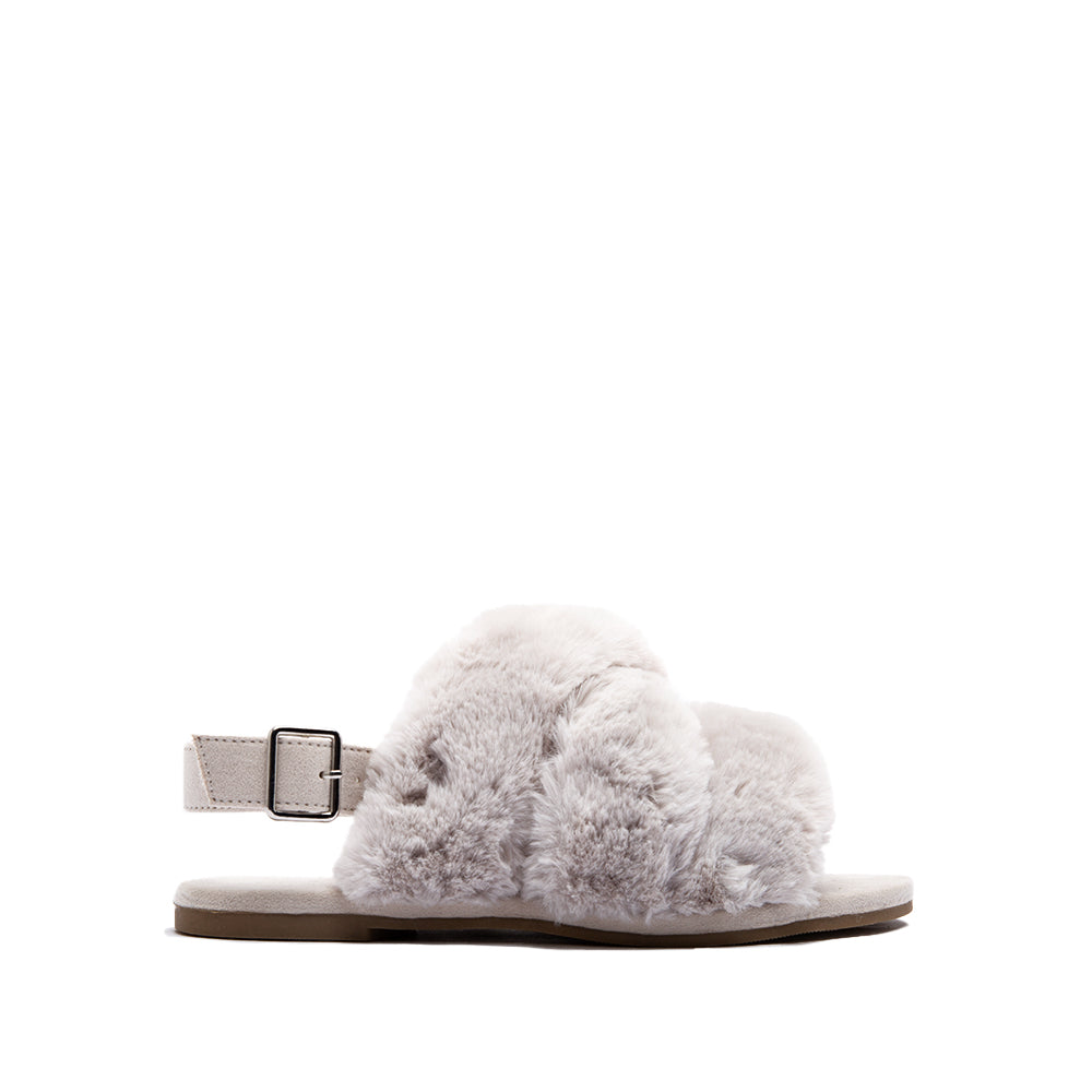 ARCHER-707XX LIGHT GREY FAUX FUR 1/2 VIEW