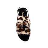ARCHER-707XX TAN BLACK LEOPARD FAUX FUR TOP VIEW