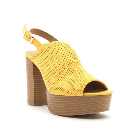 BANBI-09 YELLOW SUEDE PU