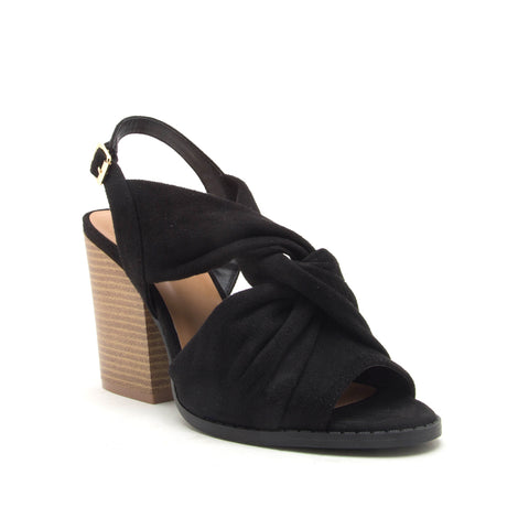 BARNES-267A BLACK STRETCH SUEDE PU