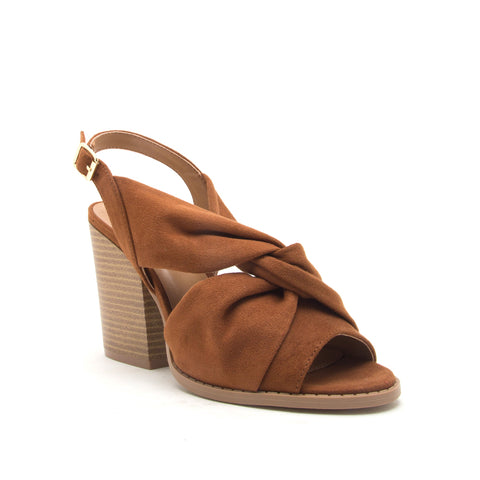 BARNES-267A CHESTNUT STRETCH SUEDE PU