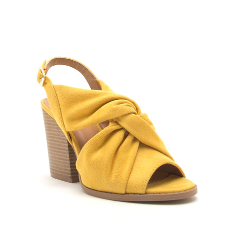 BARNES-267A YELLOW STRETCH SUEDE PU