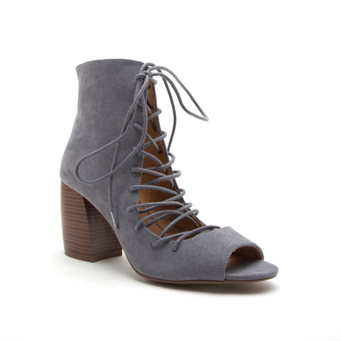 BEAU-06 STEEL GREY SUEDE PU