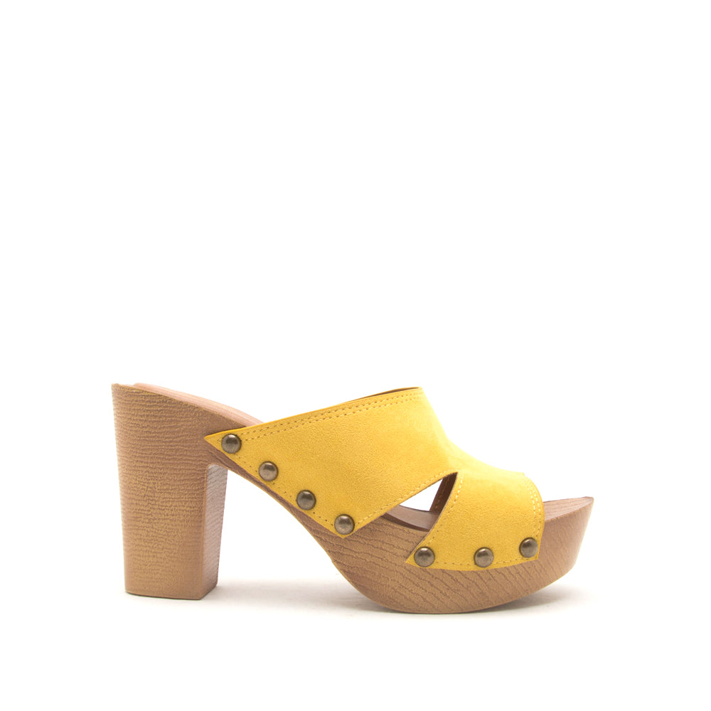 BEEKLER-29A YELLOW SUEDE PU