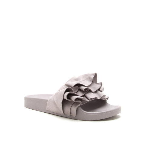 BOOBOO-39 LIGHT GREY STRETCH SUEDE PU