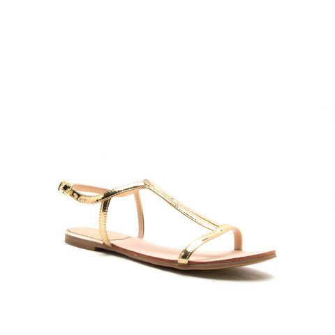 BRITT-01X GOLD SHINY METALLIC PU