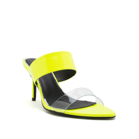 BURNET-01X NEON YELLOW PATENT PU