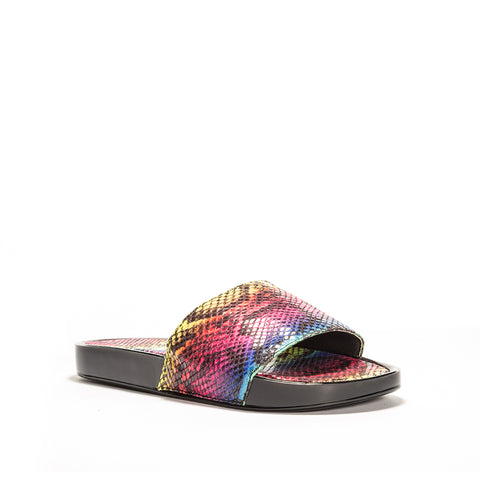 CANCAN-01 RAINBOW MULTI SNAKE FABRIC PU
