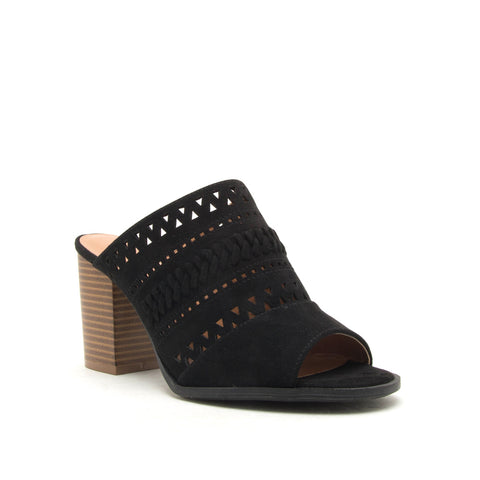 CARIS-29 BLACK SUEDE PU