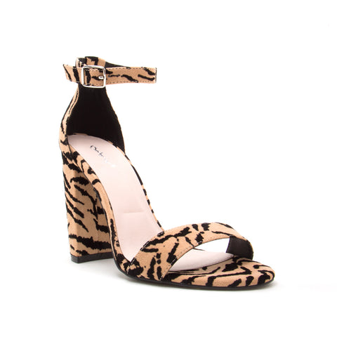 CASHMERE-01 TAN/BLACK TIGER SUEDE PU