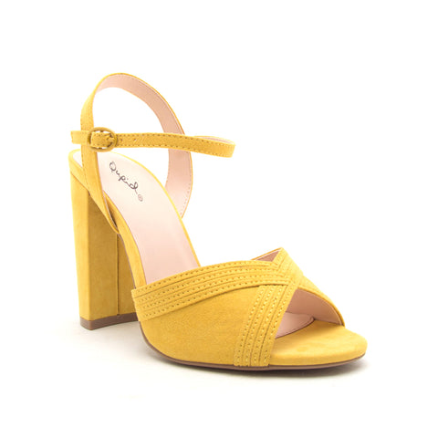 CASHMERE-106 YELLOW SUEDE PU