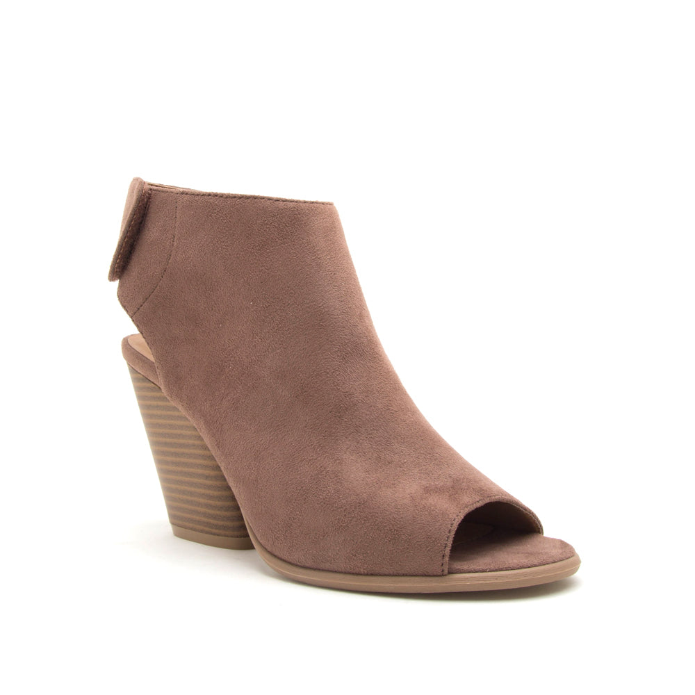 CAUTION-01 NUTMEG  STRETCH SUEDE PU