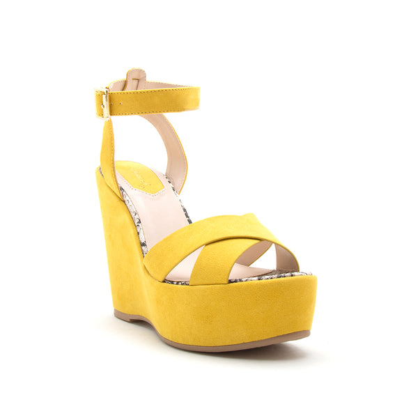 CHECKMATE-11 YELLOW SUEDE PU