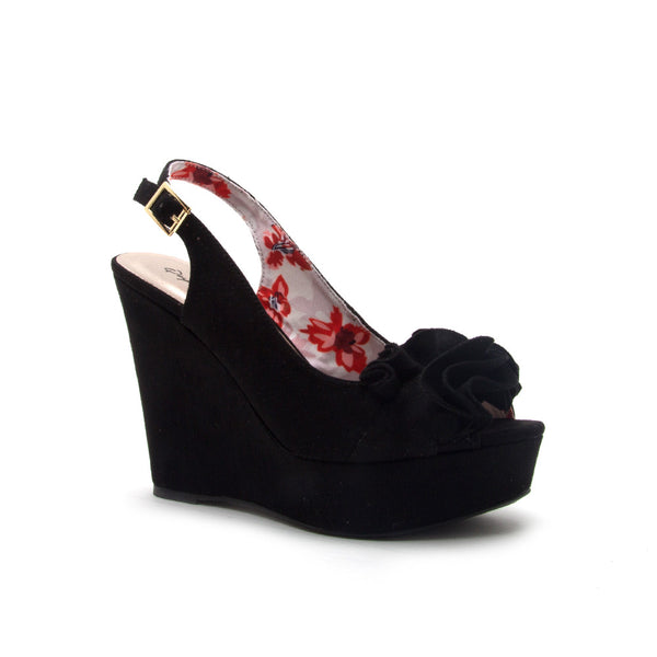 CLEMENCE-248X BLACK STRETCH SUEDE