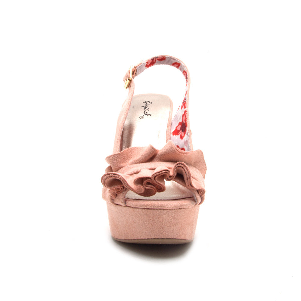 CLEMENCE-248X  SOFT BLUSH STRETCH SUEDE