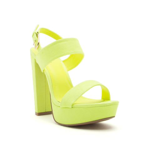 DEARLY-08 NEON YELLOW SUEDE PU