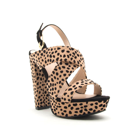 DEARLY-20XX TAN/BLACK LEOPARD SUEDE PU