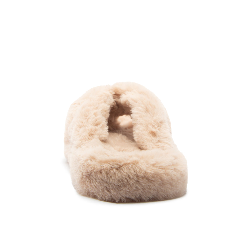 ELI-02A SAND FAUX FUR BACK VIEW