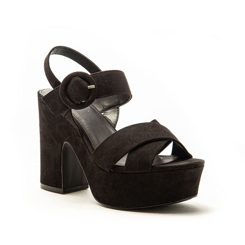 EVIE-01 BLACK WITH BLACK SUEDE PU