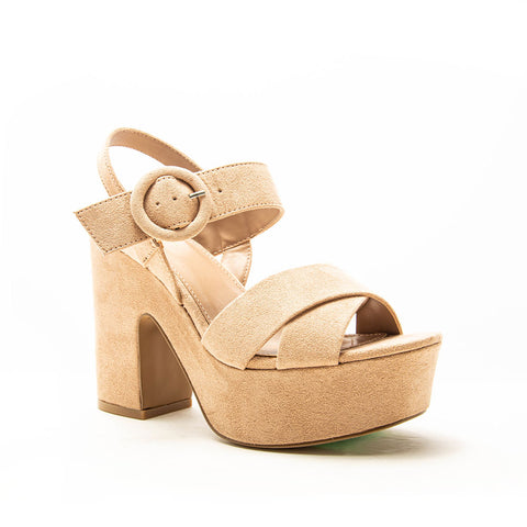 EVIE-01 WARM TAUPE SUEDE PU