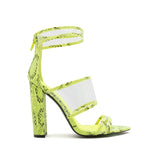 EYEING-02 NEON YELLOW BLACK SNAKE PU