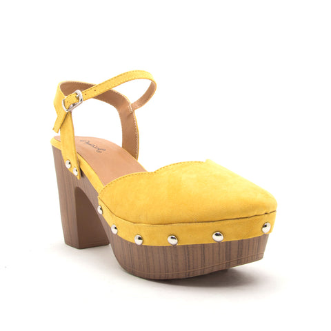 FARRIS-11 YELLOW SUEDE PU