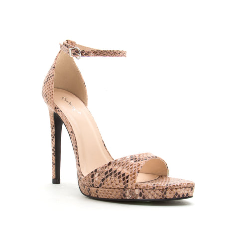 FEARLESS-01 ASH CORAL/BROWN SNAKE PU