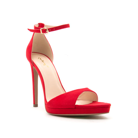 FEARLESS-01 RED SUEDE PU