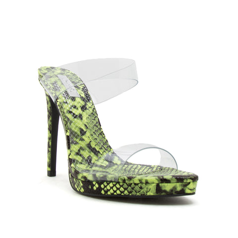 FEARLESS-02 NEON YELLOW SNAKE PU