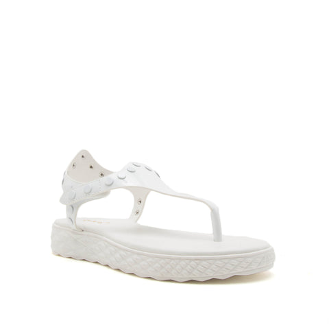 FIRE-02 WHITE PATENT PU