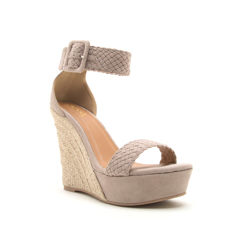 FLOWER-17X TAUPE SUEDE PU