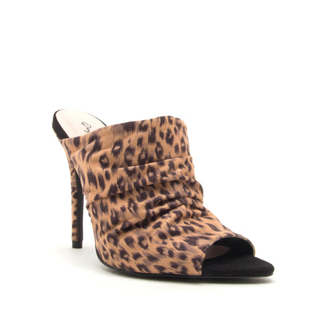 FRASIER-35 TAN/BLACK LEOPARD STRETCH SUEDE PU