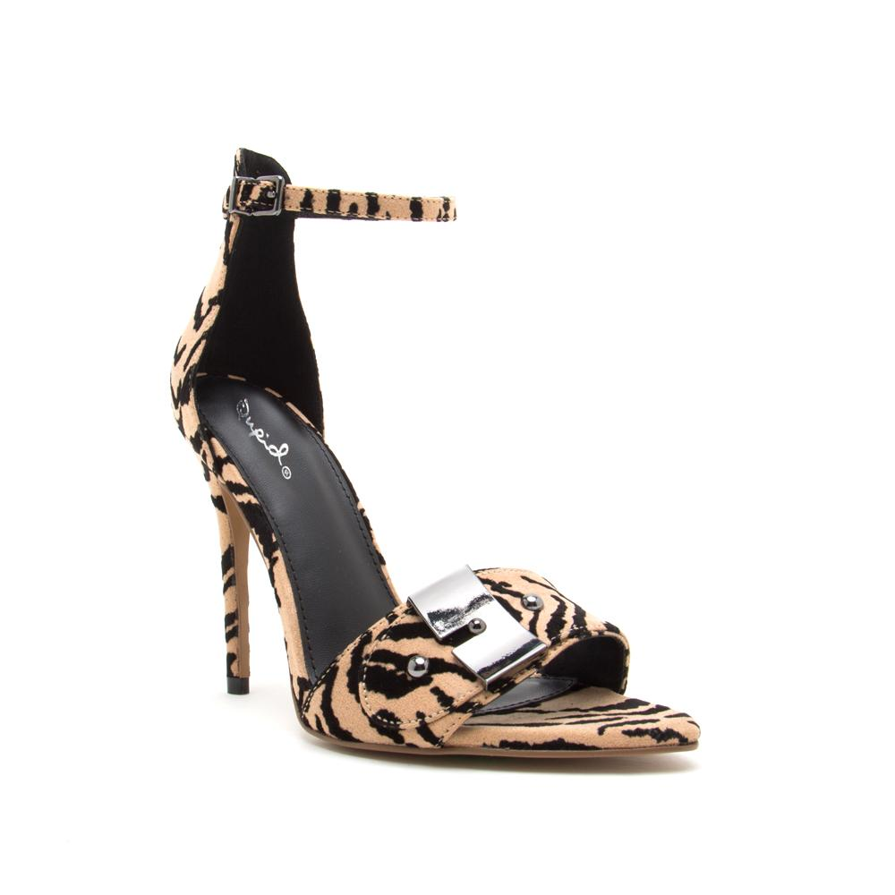 FRASIER-58A TAN BLACK TIGER SUEDE PU 1/4 VIEW