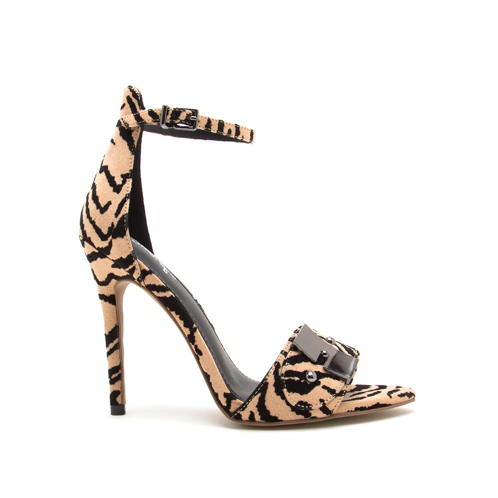 FRASIER-58A TAN BLACK TIGER SUEDE PU 1/2 VIEW