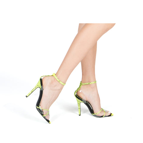 FRASIER-68XX NEON YELLOW/BLACK SNAKE PU