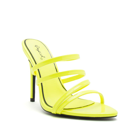 FRASIER-85 NEON YELLOW PATENT PU