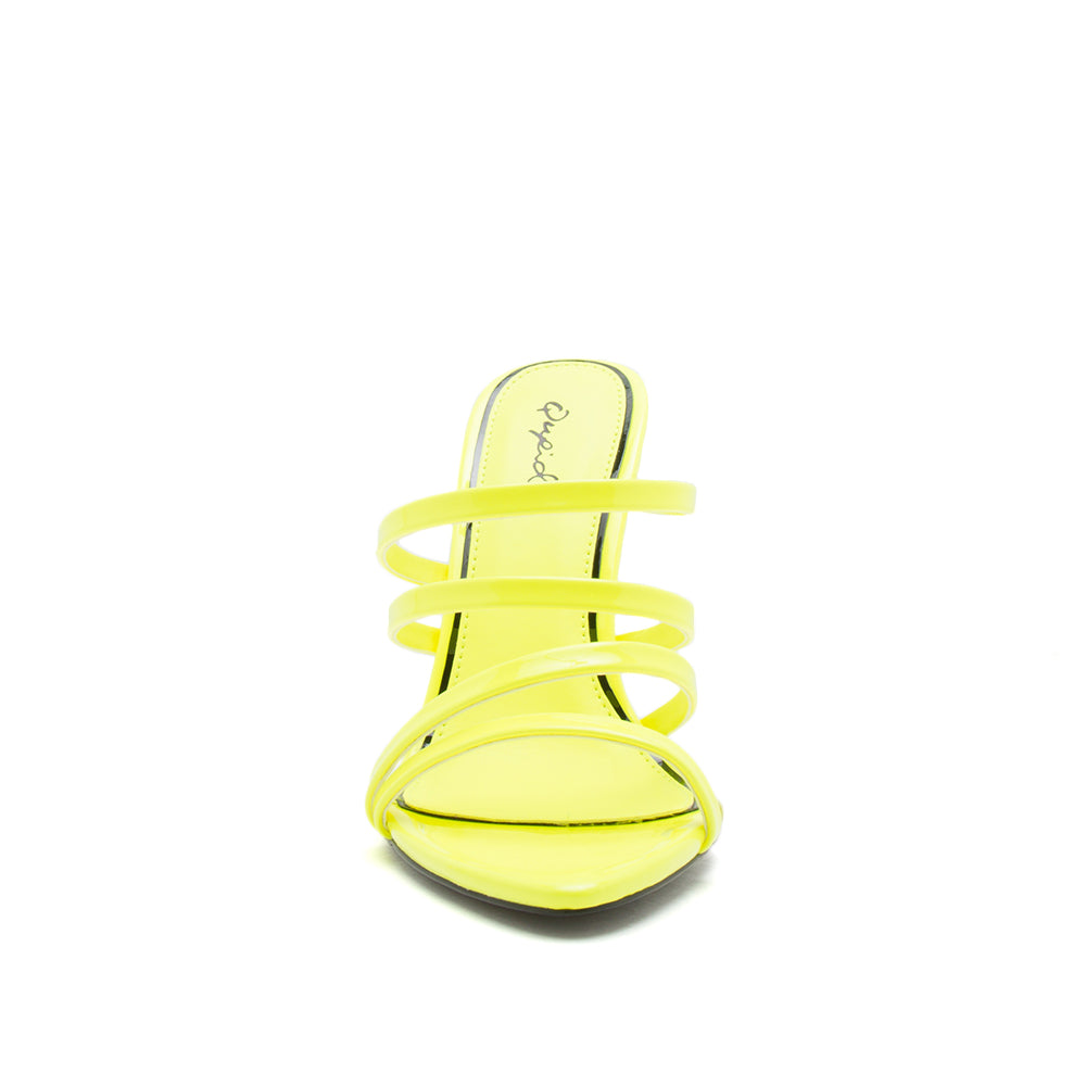 FRASIER-85 NEON YELLOW PATENT PU FRONT VIEW