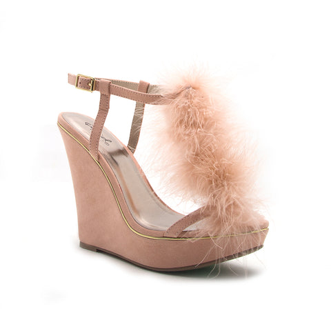 GLORY-175 SOFT BLUSH SUEDE PU