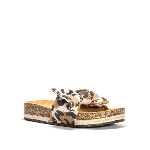 HAIDY-02 TOFFEE MULTI LEOPARD CANVAS