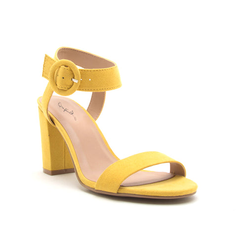 KARDEN-07 YELLOW SUEDE PU