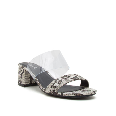 KATZ-107 IVORY BROWN SNAKE PU