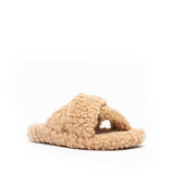 KAYLAN-02 CAMEL TEDDY FAUX FUR 1/4 VIEW
