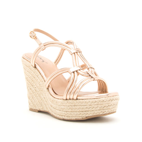 KELSEY-120AX ROSE GOLD CRINKLE METALLIC
