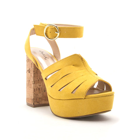 LAD-09 YELLOW SUEDE PU
