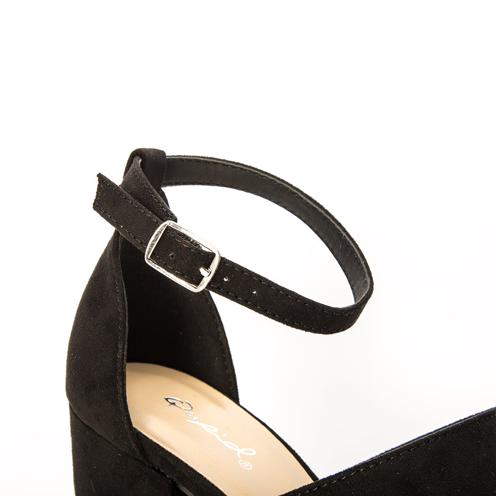 LAKE-42 BLACK SUEDE PU