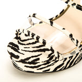 LIGHTING-27 STONE BLACK ZEBRA SUEDE PU