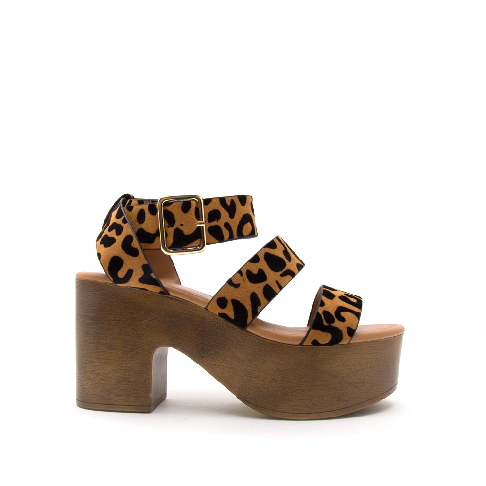 LODGE-04 CAMEL BLACK LEOPARD SUEDE PU