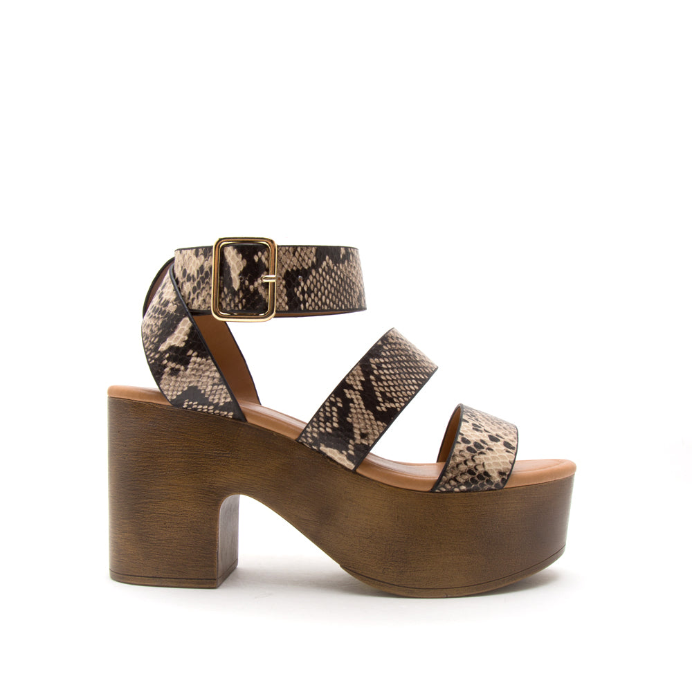 LODGE-04 LIGHT TAUPE BROWN SNAKE PU