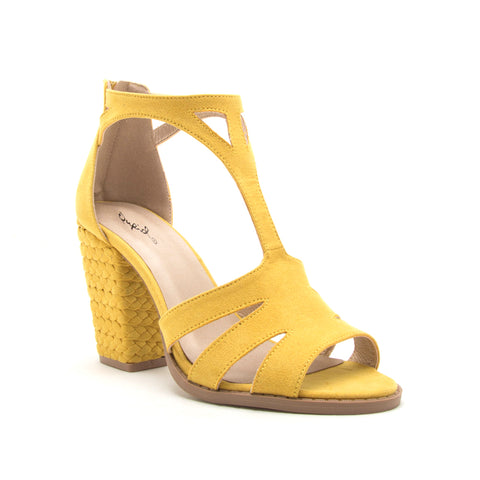 LOST-61AXX YELLOW SUEDE PU